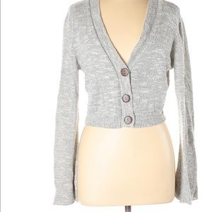 A.n.a A new approach gray cardigan/crop top